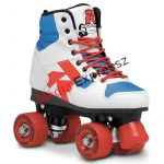 Roces Disco Palace Fehér-Kék-Piros  párhuzamos retro quad kétsoros 4 kerekű görkorcsolya