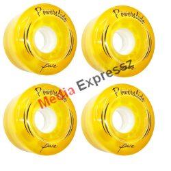 Powerslide Melrose yellow  vagy purple színben 58x32mm/78A 4 db/szett