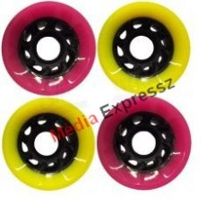 Powerslide Juicy Susi - Shady Lady 60x45mm / 78A yellow/pink 4 db