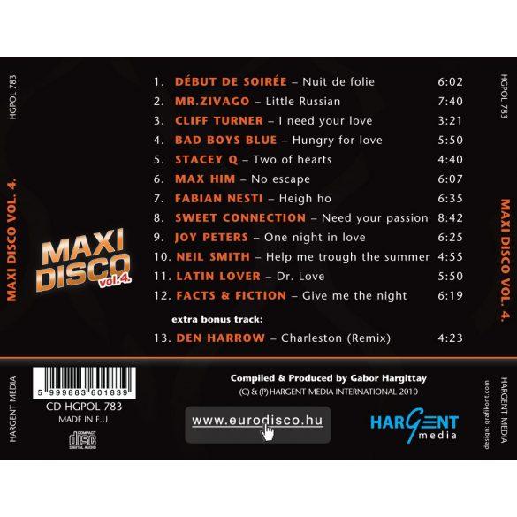 MAXI DISCO Vol. 4. - Válogatásalbum