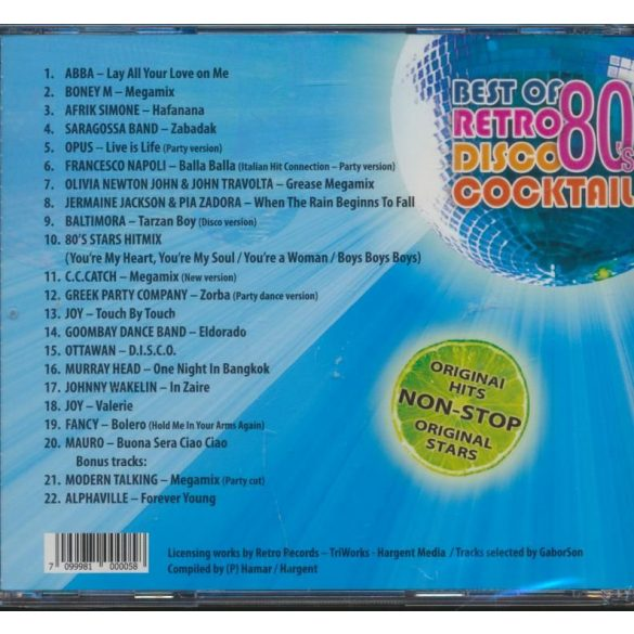 BEST OF RETRO DISCO 80's COCKTAIL