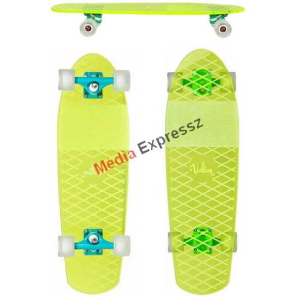Volten Cruiser skateboard neon yellow