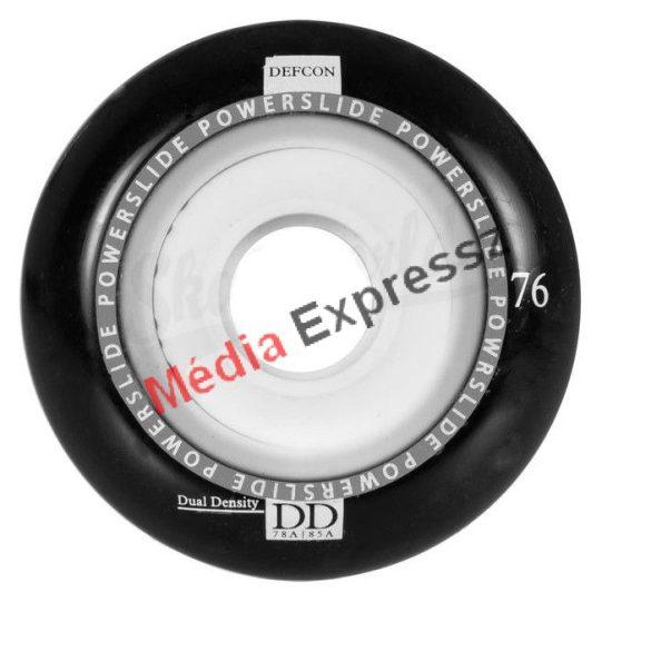 Powerslide Defcon 76mm vagy 80 mm black kerék 4 db/szett