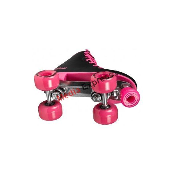 Playlife Melrose Deluxe Black/Pink párhuzamos - retro - quad  kétsoros négykerekű görkorcsolya