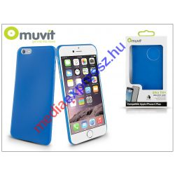 Apple iPhone 6 Plus szilikon hátlap - Muvit Ultra Thin 0,35 mm - blue