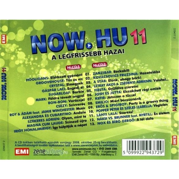 Now.hu 11 (2 CD) (Dupla CD)