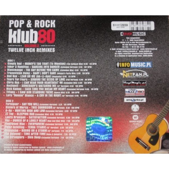 Pop & Rock Klub 80 - Volume 2  (2 CD) (Dupla CD)