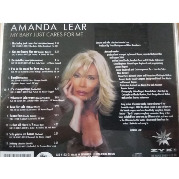 Amanda Lear - My Baby Just Cares For Me  ****