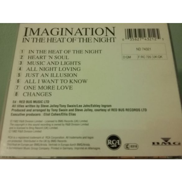 Imagination - In The Heat Of The Night  **** CD