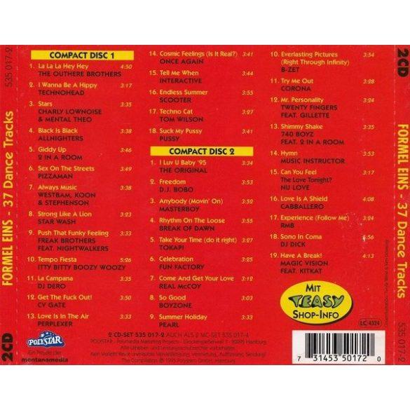 Formel Eins Dance  (2 CD)  **** (Dupla CD)