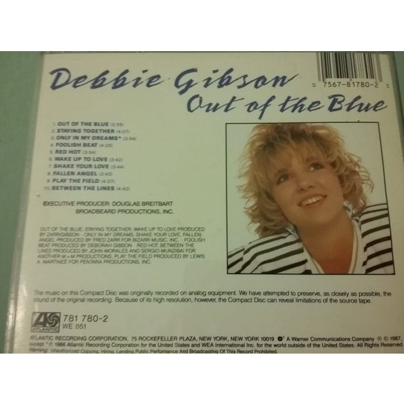 Debbie Gibson - Out of the Blue  ***