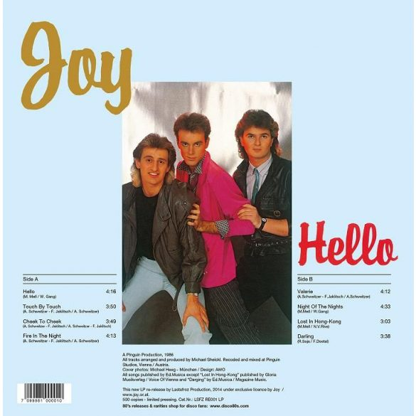 JOY - Hello LP (Hello)